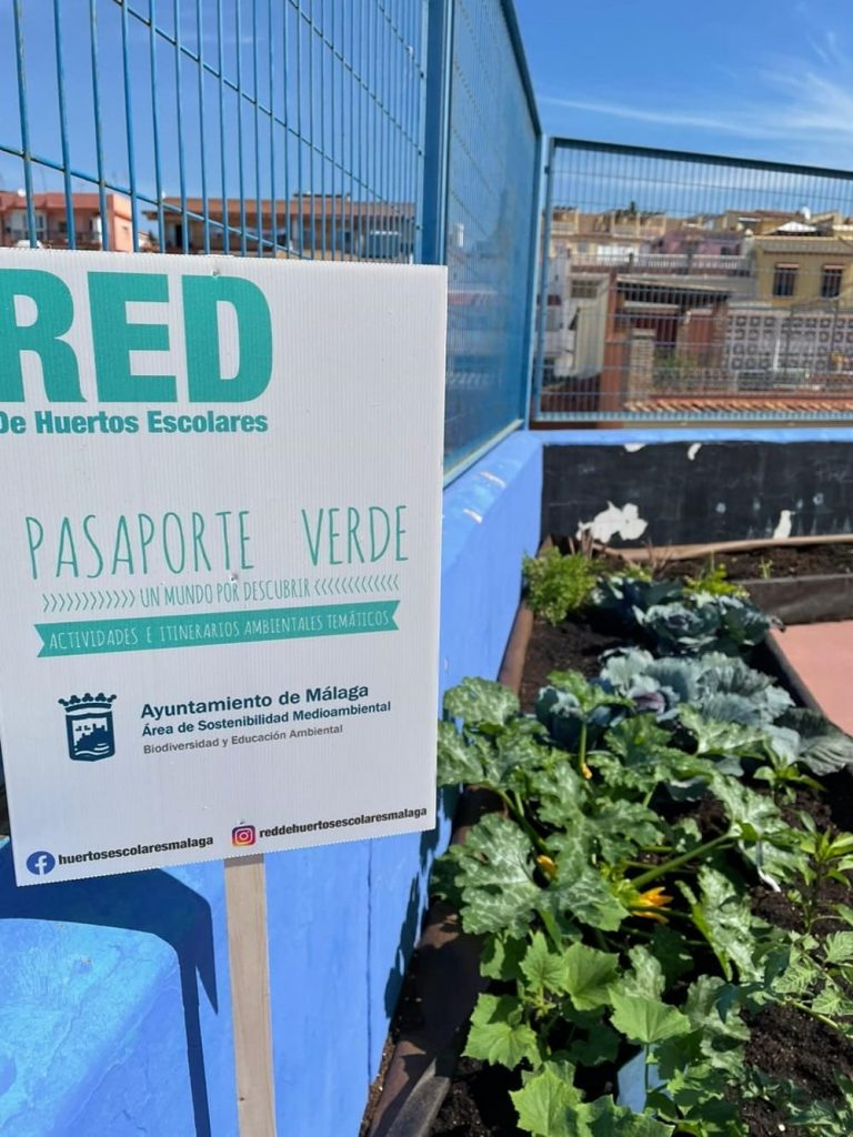 Red de Huertos Escolares de Málaga con Huertum
